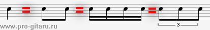 метр и ритм в композиции триоль