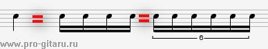 метр и ритм в композиции секстоль